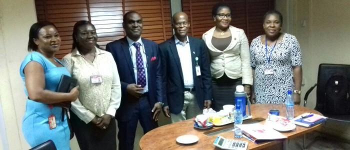 Rotimi and HR Team in Eko Disco