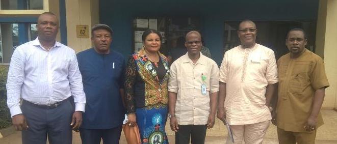 Rotimi and HR Team in Enugu Disco