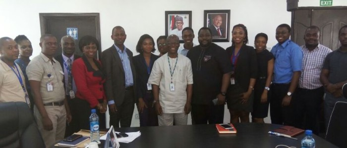 Rotimi and HR Team in Portharcourt Disco